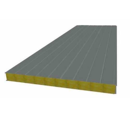 Сэндвич панель стеновая МП 100 RAL 7005/9003 0,5/0,5 мм, ширина 1200 мм
