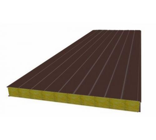 Сэндвич панель стеновая МП 100 RAL 8017/9003 0,5/0,5 мм, ширина 1200 мм