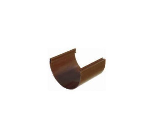Соединитель желобов Пластмо (Plastmo) D=120 мм Цвет-коричневый