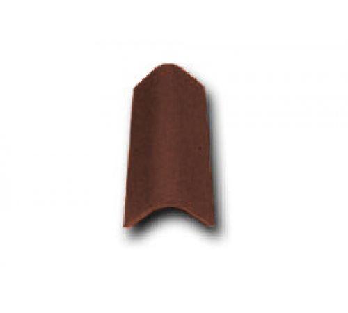 Торцевая черепица коричневый 022
