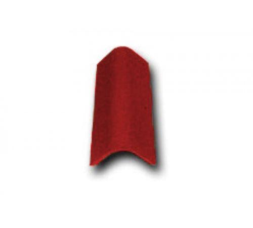 Торцевая черепица красный 026