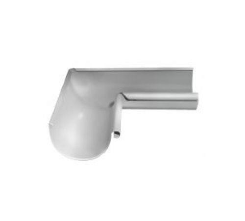 Угол желоба внутренний 90гр. GrandLine d=125мм, цвет-9003 (белый)