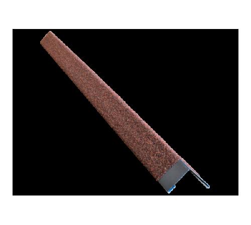 Уголок металлический с посыпкой HAUBERK внешний терракотовый