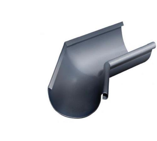 Угол желоба внутренний 135 гр. GrandLine (125/90), цвет-7024 (мокрый асфальт)