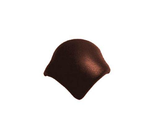 Вальмовая чер. Опал матовый т-коричневый BRAAS