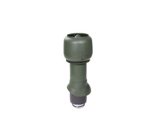 Вен. труба 125/160/500 зеленый с колпаком Vilpe
