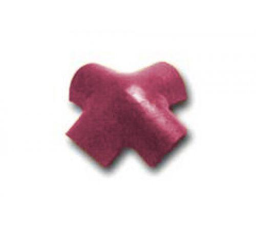 Х-образная черепица бордовый 010