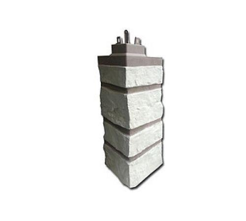 Внешний угол Бутовый камень Ivory White /Песочно -белый